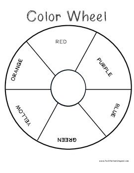 color wheel template color wheel template by fox hill school teachers pay