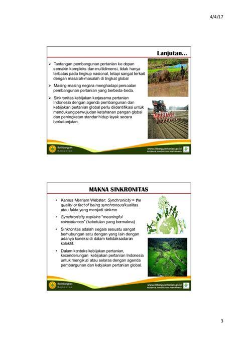 Multidimensi Ketahanan Nasional sinkronitas kebijakan kerjasama luar negeri pertanian