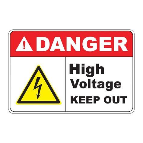 high voltage safety rectangular plastic danger high voltage safety sign pse