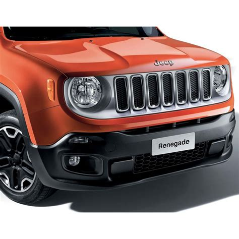 Front Grill Jeep Grand Jeep Renegade Mirror Caps And Front Grill Kit In Silver