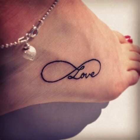 infinity tattoo on foot 16 designs