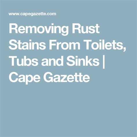 remove rust from sinks and tubs best 20 removing rust ideas on remove rust