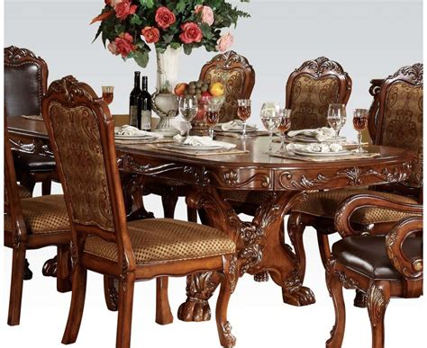 antique style dining tables dresden 5pc antique style 76 quot 108 quot pedestal dining