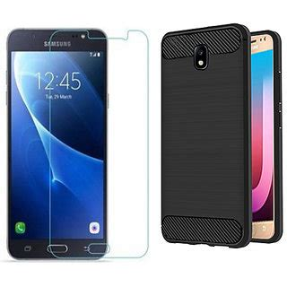 Tempered Glass Cover Samsung Galaxy J7 J7 Plus samsung galaxy j7 pro back cover plus tempered glass