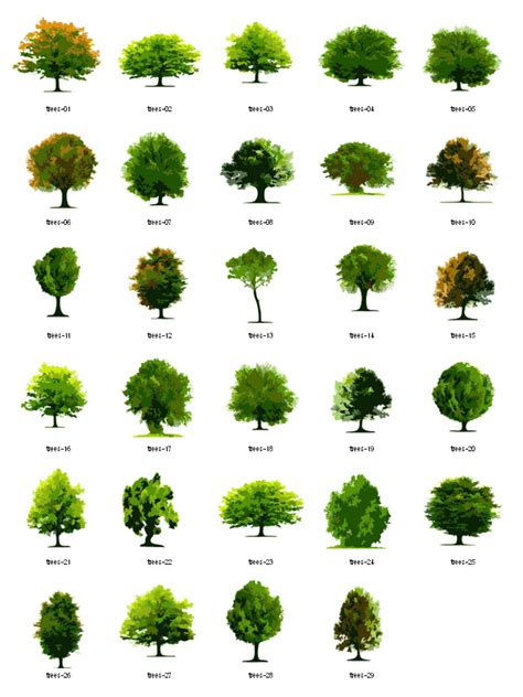 trees free vector clipart landscape architecture pinterest vector clipart landscaping and