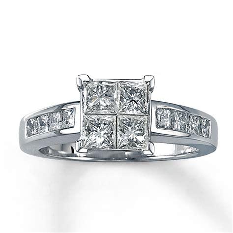 engagement ring 1 5 8 ct tw princess cut 14k