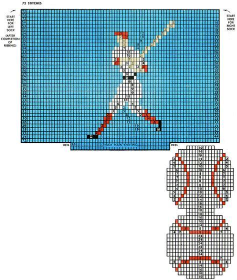 Video Player Pattern | baseball player socks pattern 7295 knitting patterns