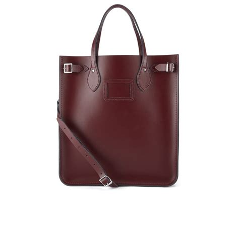 Handmade Bag Company - the cambridge satchel company south tote bag oxblood
