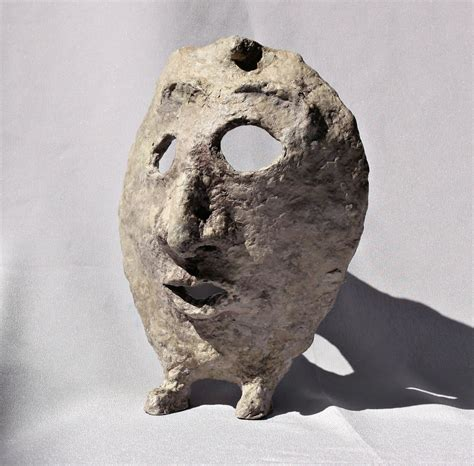 Paper Mache - file paper mache mask with with grey background jpg