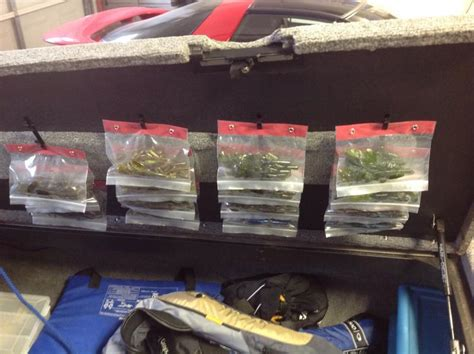 bass boat organization how do yall organize your soft plastics in your boat