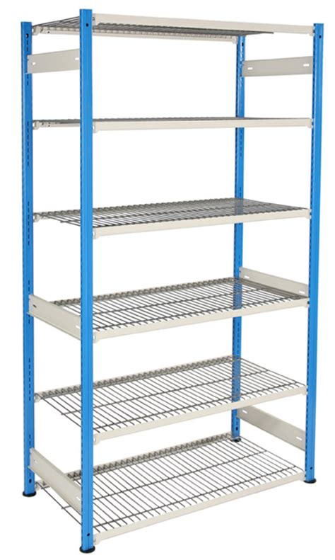 Mesh Shelf by Boltless Wire Mesh Shelving Unit 6 Shelves