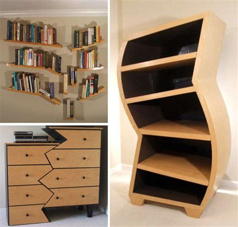 Funky Dresser by Creative Custom Curved Wooden Bookcases Dressers