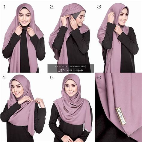 tutorial hijab segi 4 modern the gallery for gt modern hijab styles tutorial segi empat