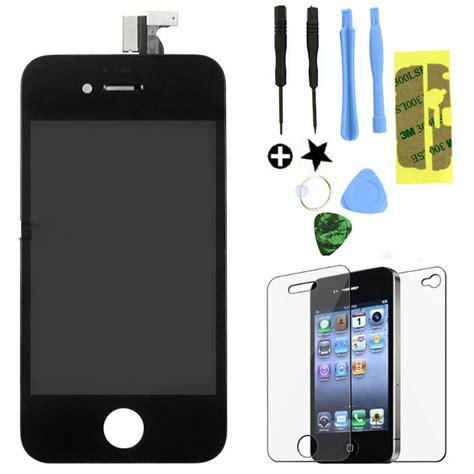 how to replace iphone 4s screen replacement lcd touch screen digitizer glass assembly oem for iphone 4s black ebay