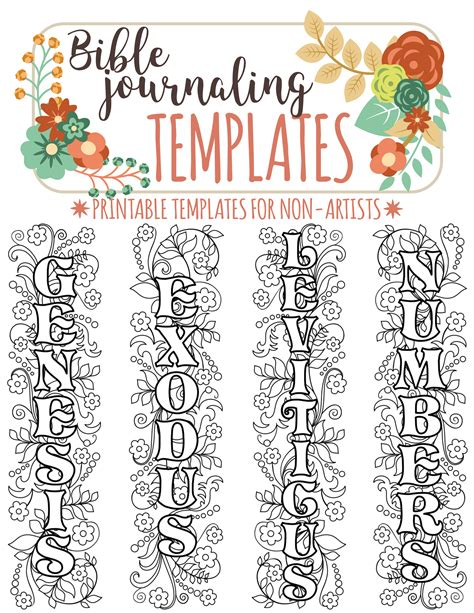 bible bookmark template names of 66 bible books bible journaling printable