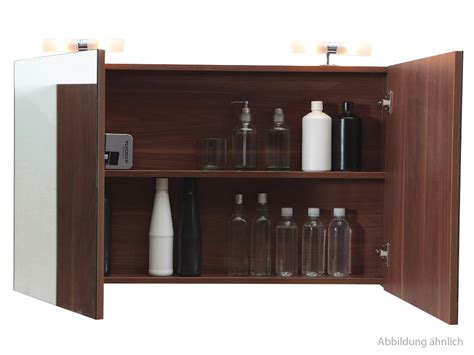 spiegelschrank nussbaum spiegelschrank 80 cm nussbaum badewelt badezimmer m 246 bel