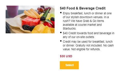 Hyatt Selling Food & Beverage Credit At A Discount