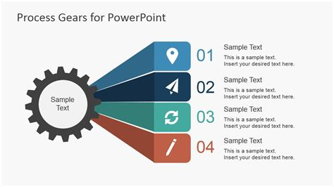 process layout exle ppt process gear shapes for powerpoint slidemodel