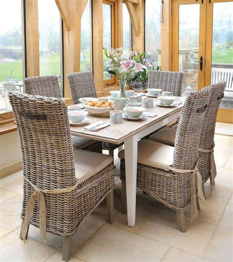 Wicker Dining Room Furniture Rattan Dining Room Table And Chairs 2144