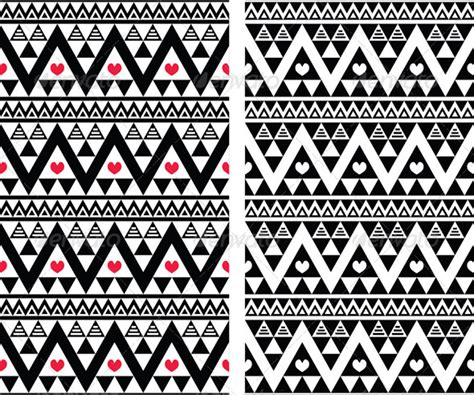 tribal pattern heart tribal aztec seamless pattern with heart graphicriver
