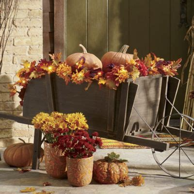 pre lit indoor outdoor garland from through the country
