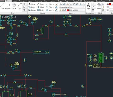 Drawing P Id In Autocad by P Id S And Pfd S Drawing And Update In Autocad 2d Zbigx