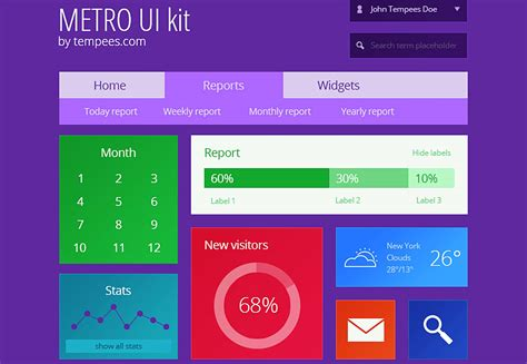 ui pattern search the ultimate guide to flat design webdesigner depot