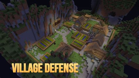 how to protect your house in minecraft village defense mini game minecraft project