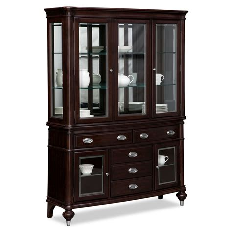 dining room sideboards and buffets esquire buffet and hutch cherry value city furniture