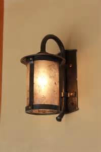Rustic Wall Sconces Copper And Mica Carriage L Rustic Wall Sconces Other Metro By Ponderosa Forge And
