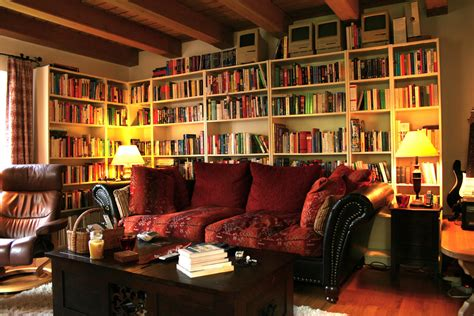 Living Room With Library by How To Turn Your Apartment Into A Bachelor Pad Rentify News