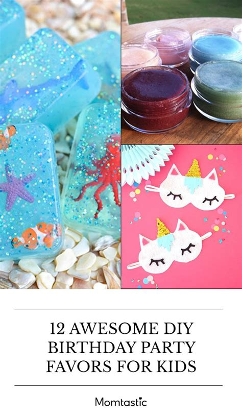 awesome diy birthday party favors  kids