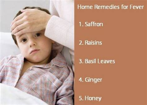 simple remedies for fever in children