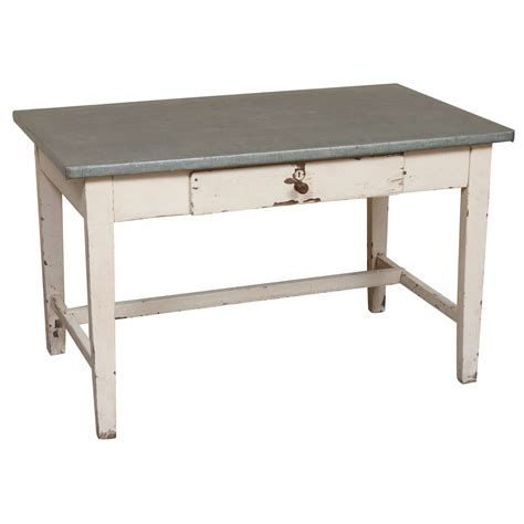 zinc topped writing table at 1stdibs