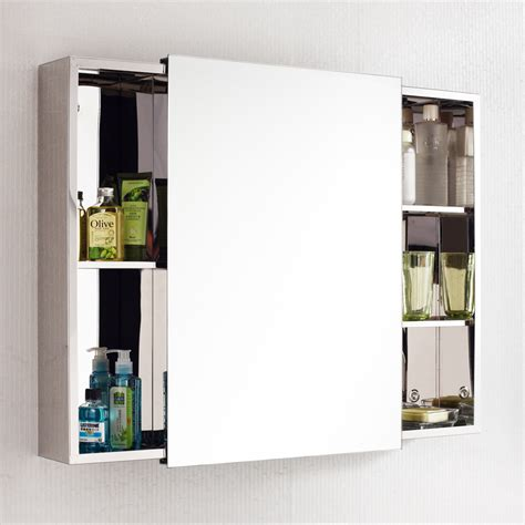 stainless steel sliding door mirrored cabinet 500 h 340 w small waterproof sliding door bathroom vanity mirror