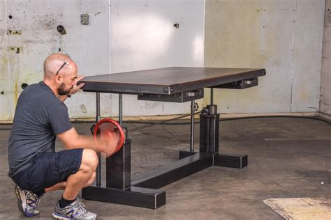 Crank Sit Stand Desk   Vintage Industrial Furniture