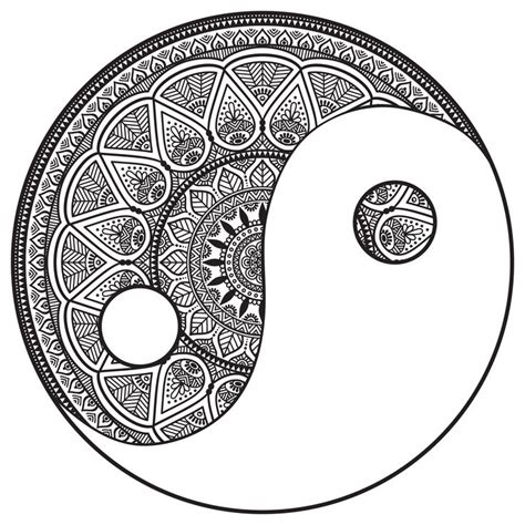 printable coloring pages yin yang coloring page mandala yin and yang to color by snezh from