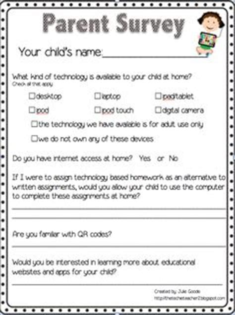 Parent Letter Nwea parent technology survey freebie