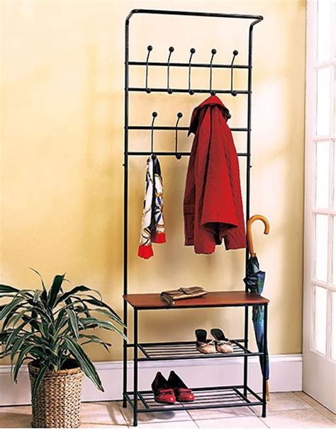 shoe bench with coat rack hall tree coat rack bench shelf shoes entryway organizer