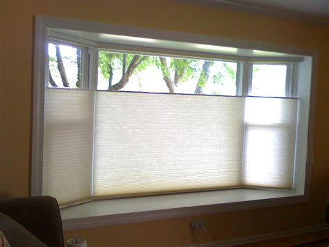 Ideas For Hton Bay Blinds Design Top Bottom Up Cordless Cellular Shades Bay Bow Window Treatments House