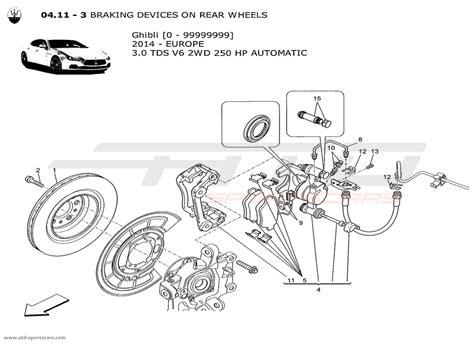 maserati parts catalog maserati ghibli v6 3 0l diesel auto 2014 braking devices