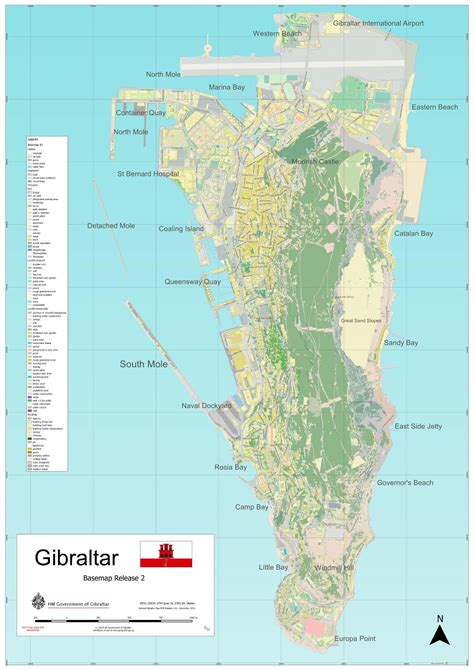 printable road map of gibraltar large scale full map of gibraltar gibraltar europe