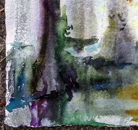 Watercolor Painting On Handmade Paper - wetland landscape original watercolor on handmade paper