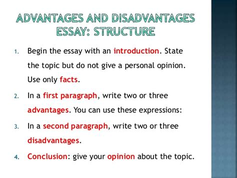 Benefits Of Technology Essay by How To Write And Advantages And Disadvantages Essay