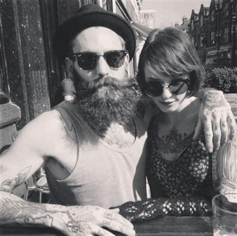 Tattooed Bearded Couple | 17 best images about i got u babe