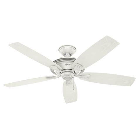 home elegance ceiling fan 52 hunter rainsford 52 in outdoor fresh white ceiling fan