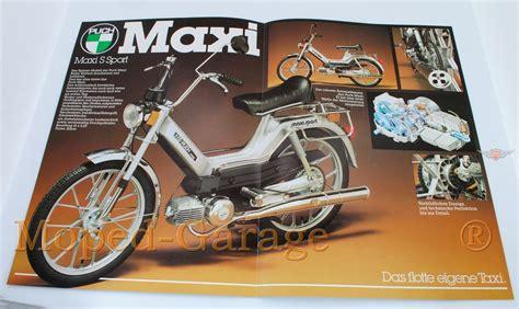 Original Al Maxi 2 moped garage net puch maxi quot mofa n s sport quot original prospekt moped teile kaufen