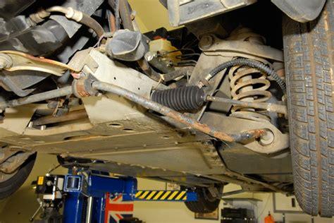 delorean suspension delorean restoration removing the from the frame