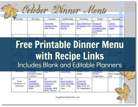 printable editable menu planner free printable october dinner menu with links meet penny