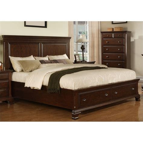 picket house furnishings canton storage bed in cherry